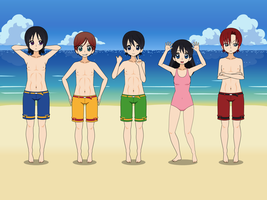 Fab Five in Beach Kisekae by CamiloSama