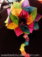 Colorful Floral-ish Kusudama by SweetBeriiChu