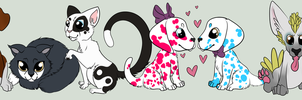 Puppies and Kittens Oh My! by DovieCaba