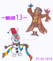 Doctor Olaf and Doctor Owl by DOLLce13