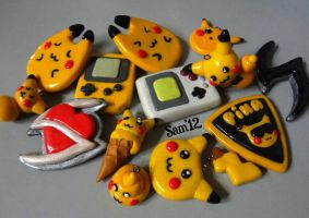 my collection of pikachus etc by dsam4