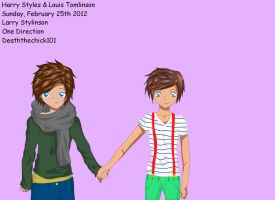 Larry Stylinson by deaththechick101