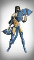 Kitana UMK3 pose by SrATiToO