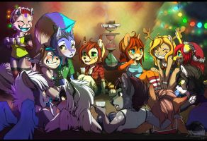Christmas get-together by Tsukinori