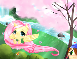 My secret love - Fluttershy dans Blablaland by x-Piiu