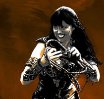 Xena with whip by peileppe