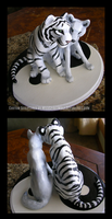 Tiger And Wolf Weding Topper by WildSpiritWolf
