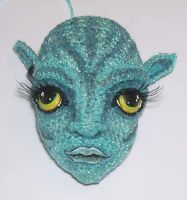 Neytiri Crochet Doll Progress by peggytoes