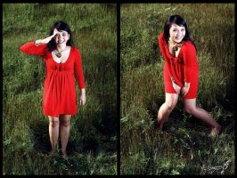 winda red hot green grass by dinonino