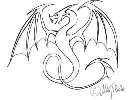 Dragon tattoo by Demondes
