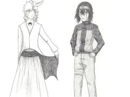 Naruto and Ulquiorra by xRaggsokkenx