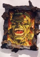 hulk painting 1998 for show by Johnny-Retro65