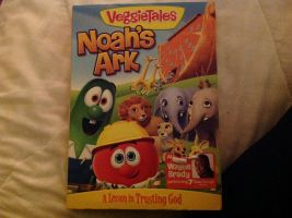 My mom bought me VeggieTales Noah's Ark DVD by Magic-Kristina-KW