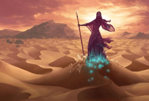 Sorceress of the Crystal Dunes by Petrichora