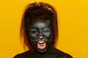 face painting :Panther by LauraLeone