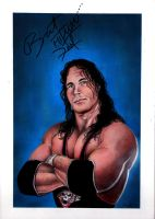 Bret The Hitman Hart by markhossain