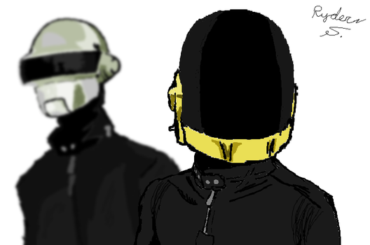 daft punk - mspaint by Ryder-Sechrest