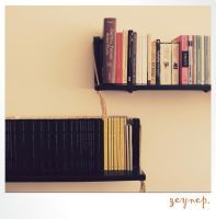 books on wall by mabelzey