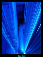Blue exit by nyc0