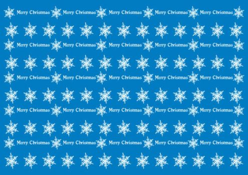 Wrapping Christmas paper blue by spidergypsy