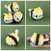 Tamago Nigiri Cat by pocket-sushi