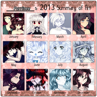 2013 summary of art by Purrinee