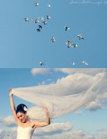 a passing cloud bride by Anahita