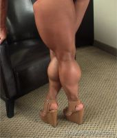 Down shot vision of Legs Awesomeness with Akane by LegsEmporium