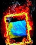 My Paint In Fire Frame by YOKOKY