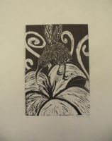 Kiwi Creature Print by forlorn-faerie