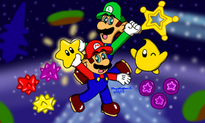 Super Mario Galaxy by MarioSimpson1