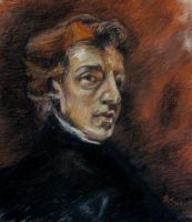 Study of Delacroix's Chopin by hever