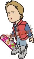 Marty McFly Back to the Future by toonseries