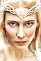 Colorful Galadriel - The Hobbit 3 Poster by Elisa-Gallion
