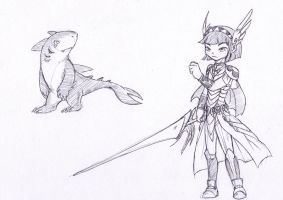 Valkyrie n Sharky? by Dogmaniac