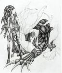 Shiva and Ifrit by GingerLilys