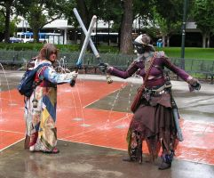 LARP Boffer Battle by lost-capella