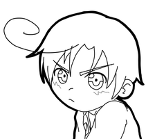 Chibi Romano lineart by LiliumLief