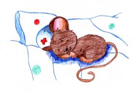 Nurse Mouse sleeping by jengy