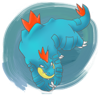 Feraligatr by Lompster-Monster