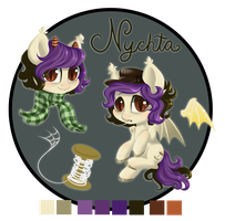 Ref Sheet - Nychta (Silk) by StyxLady
