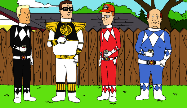 King of the Hill Power Rangers  by CH1996ART