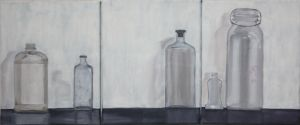 Glass Bottles Painting by Eclipsed05
