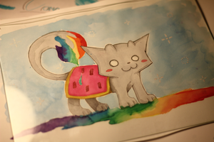 Nyan Cat Ecoline by Fraffrog