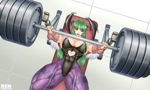 Morrigan cosplay training by RENtb
