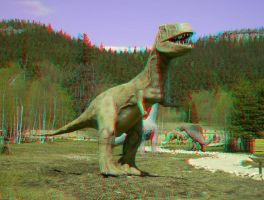 Dinosaur 3D Anaglyph by yellowishhaze