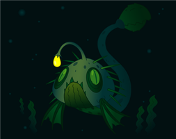 Deep Sea Monster, Leviathing by Sageroot