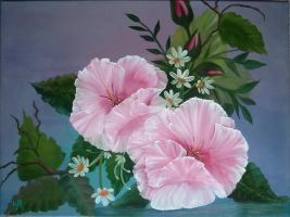 Pink Poppies by W. Redman by wanred