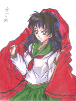 Kagome to Inuyasha no haori by CHIKAON
