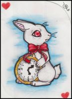 Card II - White Rabbit by FreakyWonderland